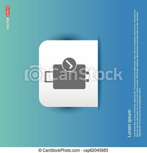 Bag icon - Blue Sticker button - csp62045683