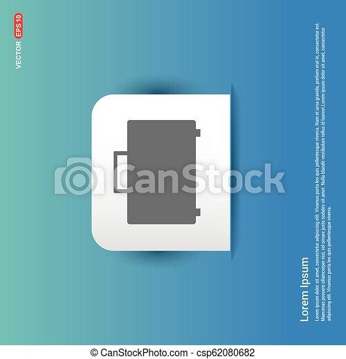 Bag icon - Blue Sticker button - csp62080682