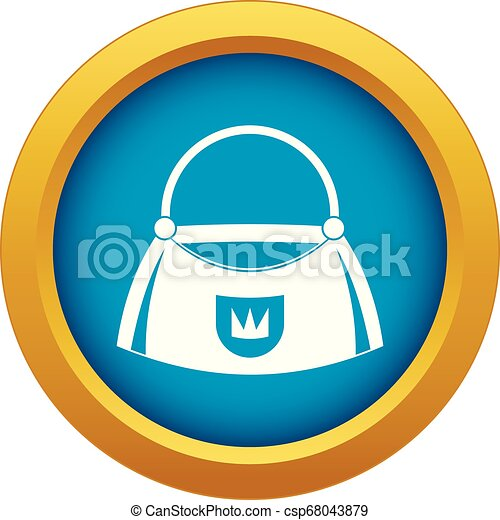 Bag icon blue vector isolated - csp68043879