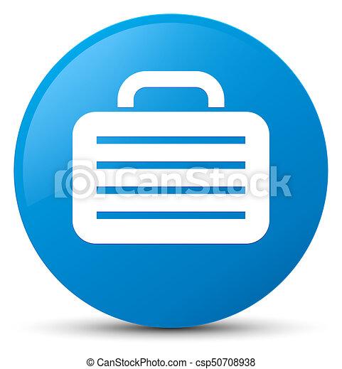 Bag icon cyan blue round button - csp50708938