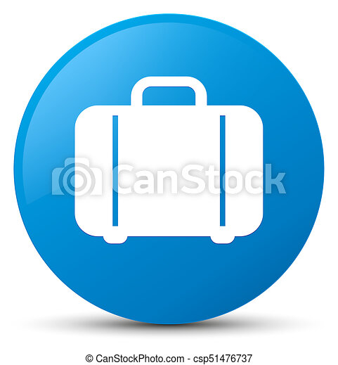 Bag icon cyan blue round button - csp51476737