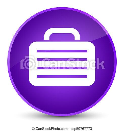 Bag icon elegant purple round button - csp50767773