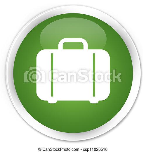 Bag icon green button - csp11826518