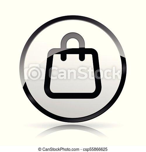 bag icon on white background - csp55866625