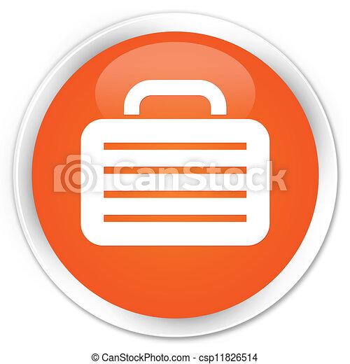 Bag icon orange button - csp11826514