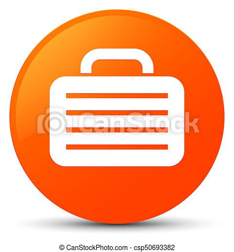 Bag icon orange round button - csp50693382