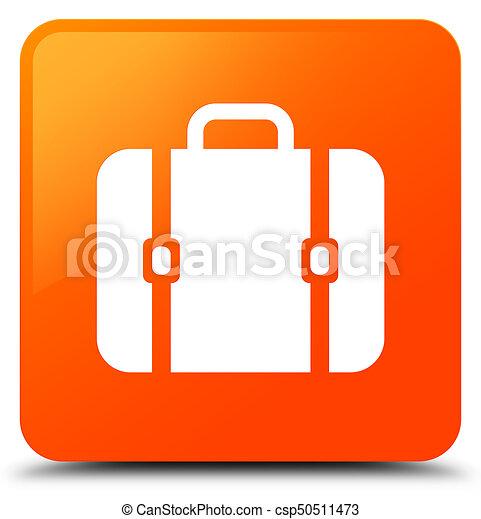 Bag icon orange square button - csp50511473