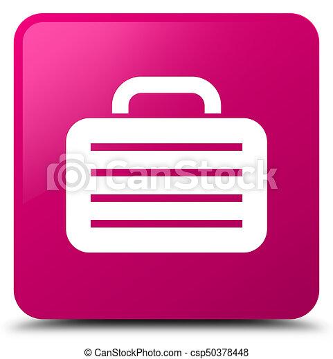 Bag icon pink square button - csp50378448
