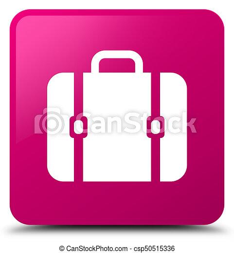 Bag icon pink square button - csp50515336