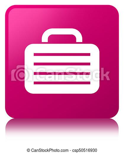 Bag icon pink square button - csp50516930