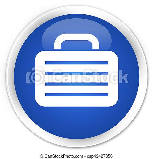 Bag icon premium blue round button - csp43427356