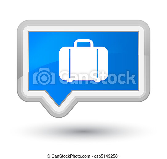 Bag icon prime cyan blue banner button - csp51432581