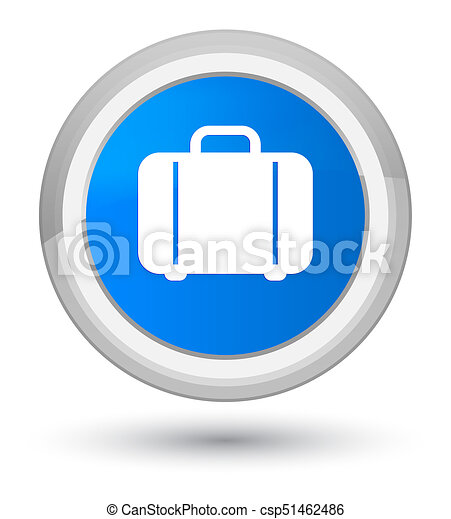 Bag icon prime cyan blue round button - csp51462486
