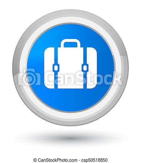 Bag icon prime cyan blue round button - csp50518850