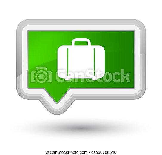 Bag icon prime green banner button - csp50788540