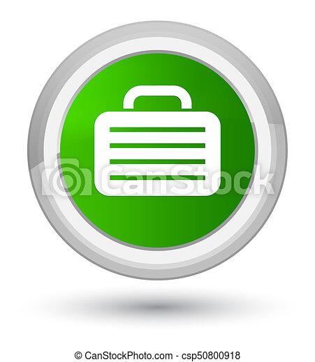 Bag icon prime green round button - csp50800918