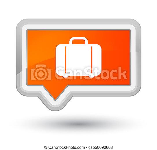 Bag icon prime orange banner button - csp50690683