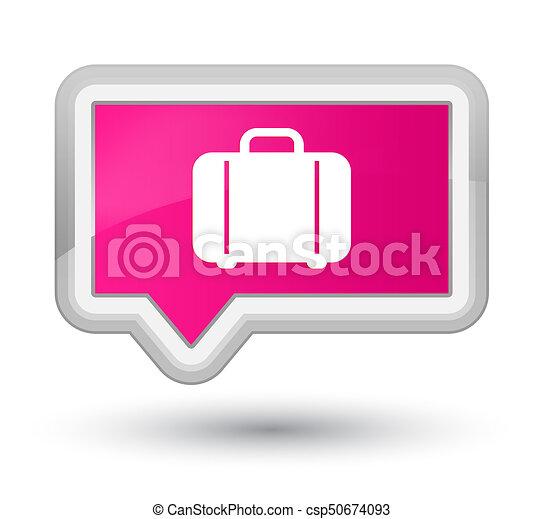 Bag icon prime pink banner button - csp50674093