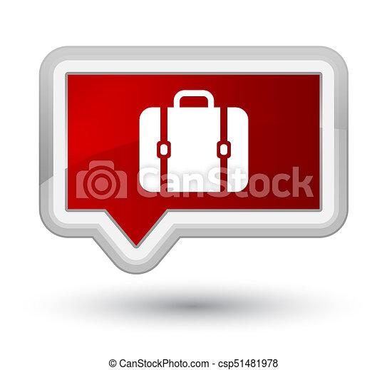 Bag icon prime red banner button - csp51481978