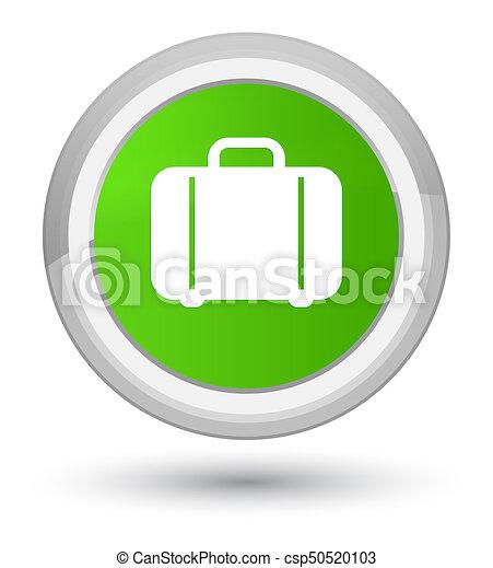 Bag icon prime soft green round button - csp50520103