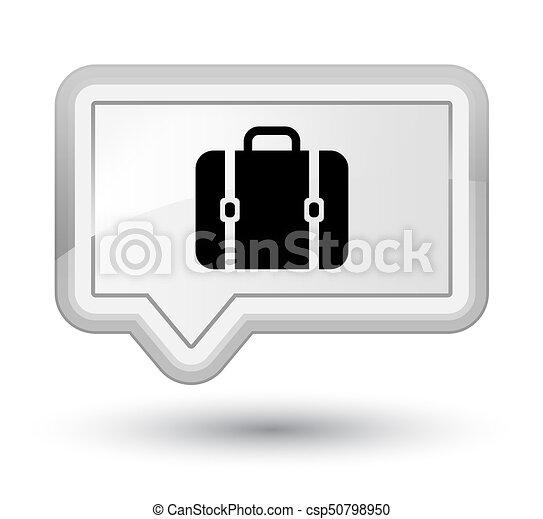 Bag icon prime white banner button - csp50798950