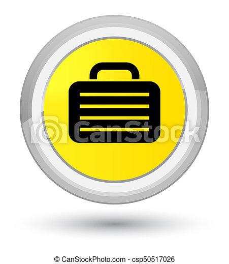 Bag icon prime yellow round button - csp50517026