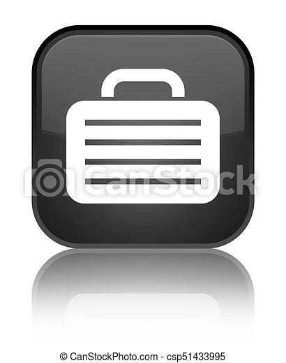 Bag icon special black square button - csp51433995