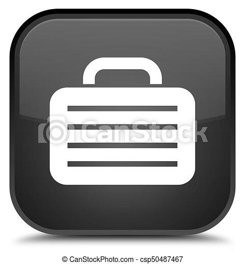 Bag icon special black square button - csp50487467