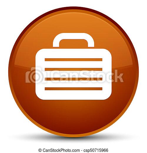 Bag icon special brown round button - csp50715966