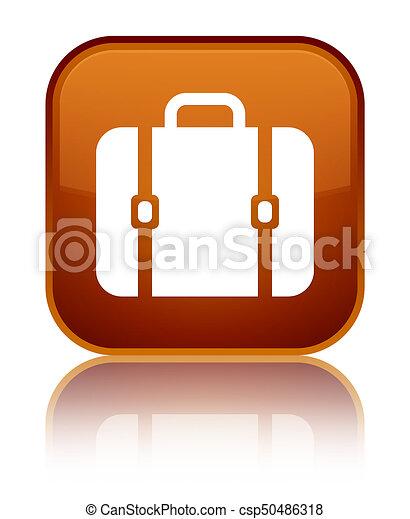 Bag icon special brown square button - csp50486318