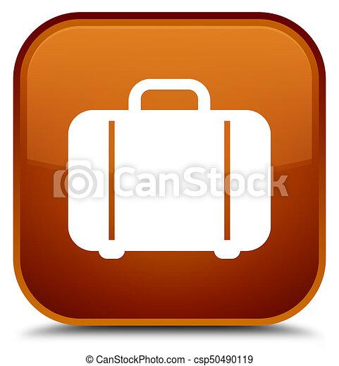 Bag icon special brown square button - csp50490119