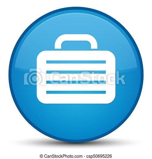 Bag icon special cyan blue round button - csp50695226
