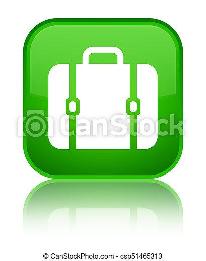 Bag icon special green square button - csp51465313