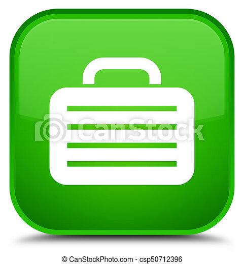 Bag icon special green square button - csp50712396