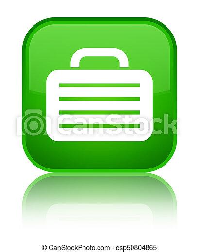 Bag icon special green square button - csp50804865