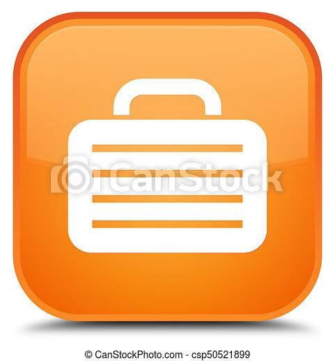 Bag icon special orange square button - csp50521899