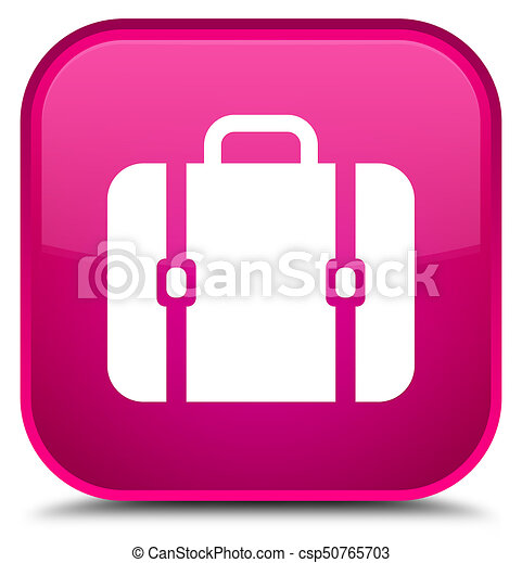Bag icon special pink square button - csp50765703