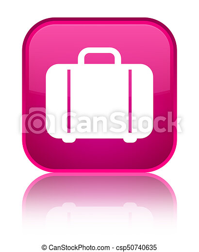 Bag icon special pink square button - csp50740635