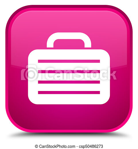 Bag icon special pink square button - csp50486273