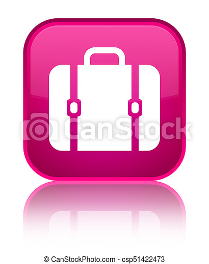 Bag icon special pink square button - csp51422473