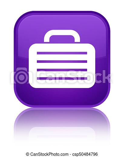 Bag icon special purple square button - csp50484796