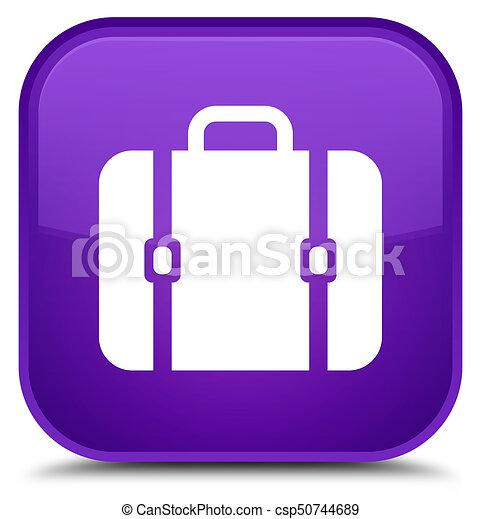Bag icon special purple square button - csp50744689