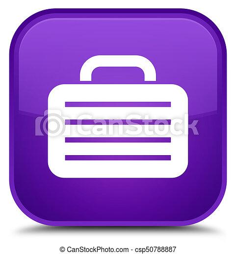 Bag icon special purple square button - csp50788887