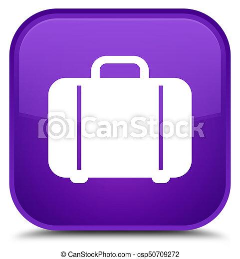 Bag icon special purple square button - csp50709272