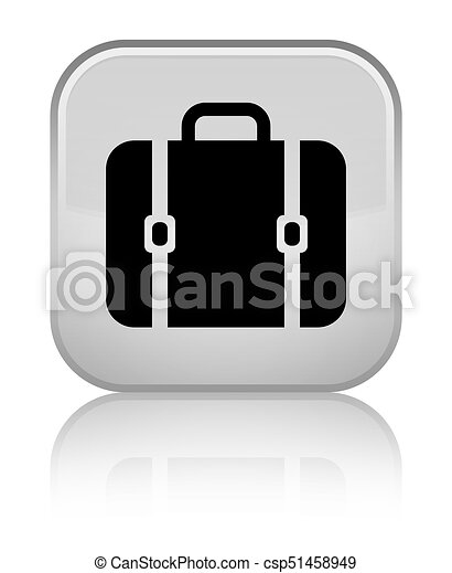 Bag icon special white square button - csp51458949