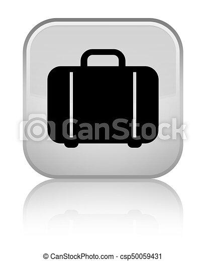Bag icon special white square button - csp50059431