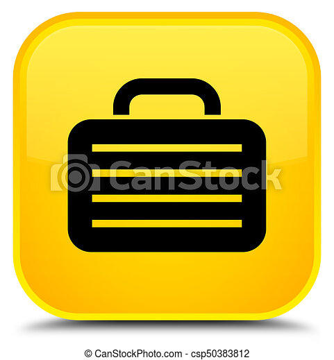 Bag icon special yellow square button - csp50383812