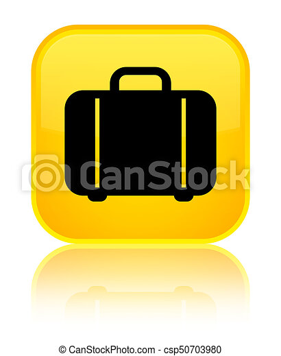 Bag icon special yellow square button - csp50703980
