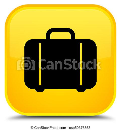 Bag icon special yellow square button - csp50376853