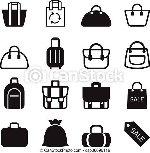 Bag icon  - csp36896116